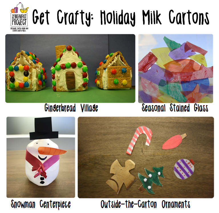 Get crafty holiday milk cartons milk recipes and other for Christmas crafts with milk jugs