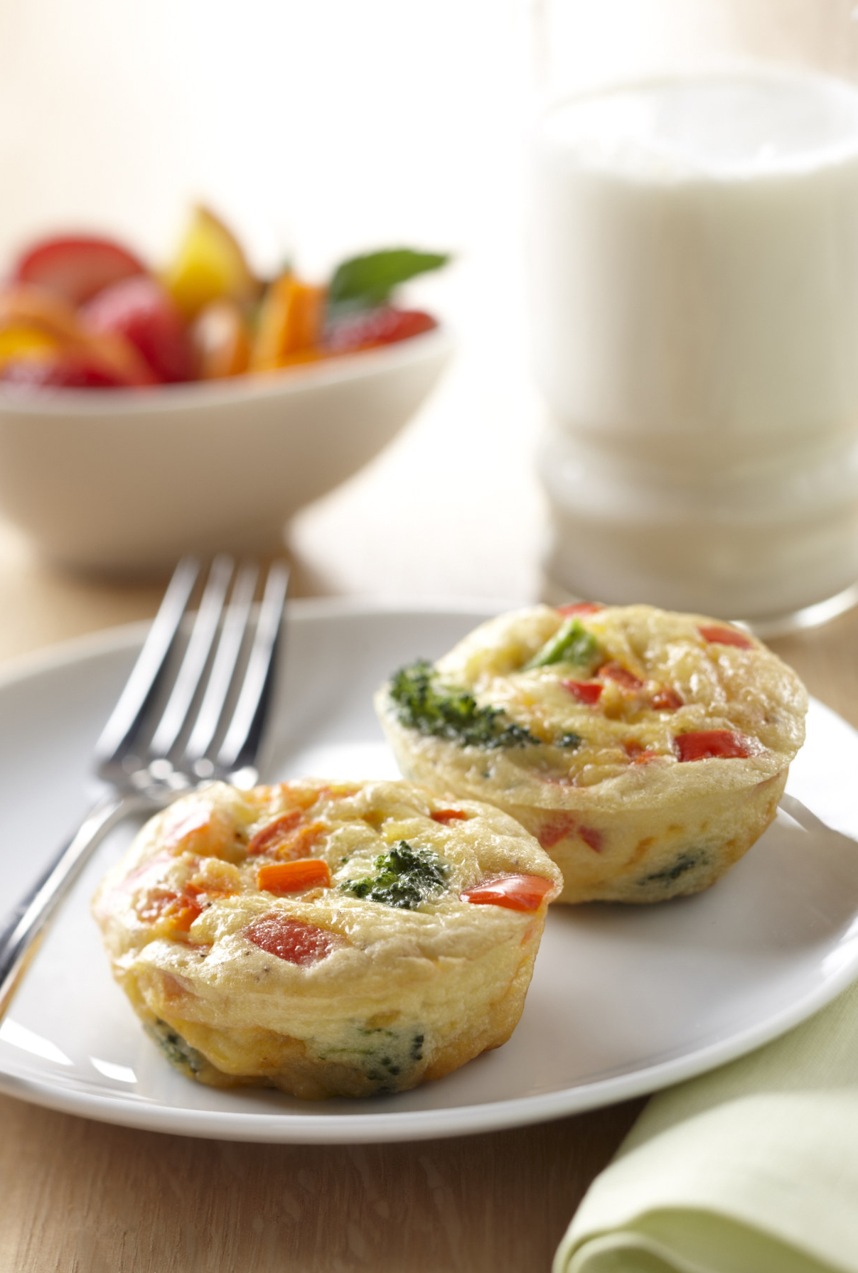 Broccoli and Cheese Frittatas - Milk Recipes and Other Healthy ...