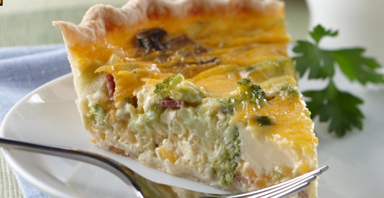Bacon and Broccoli Quiche