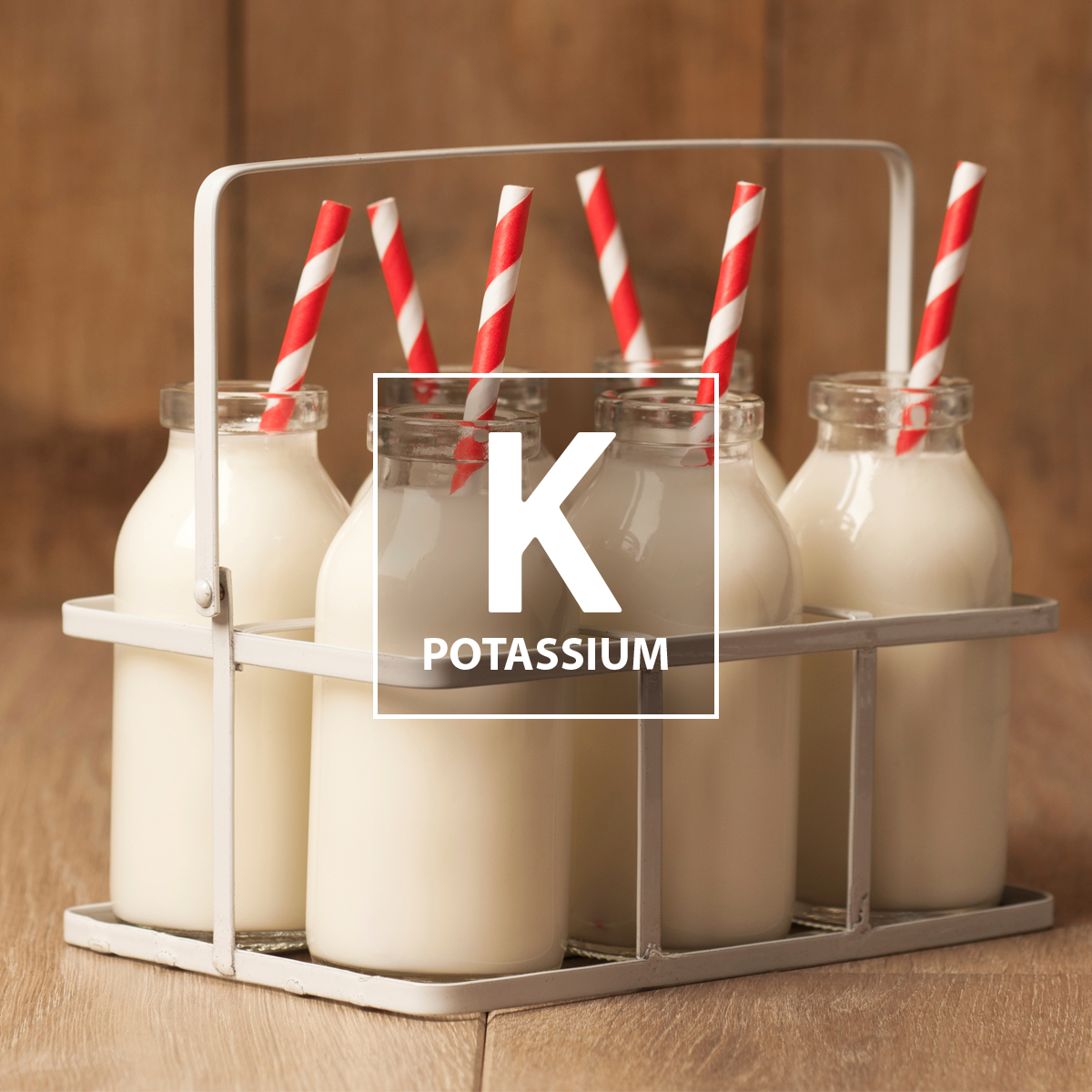 Potassium is a nutrient in milk