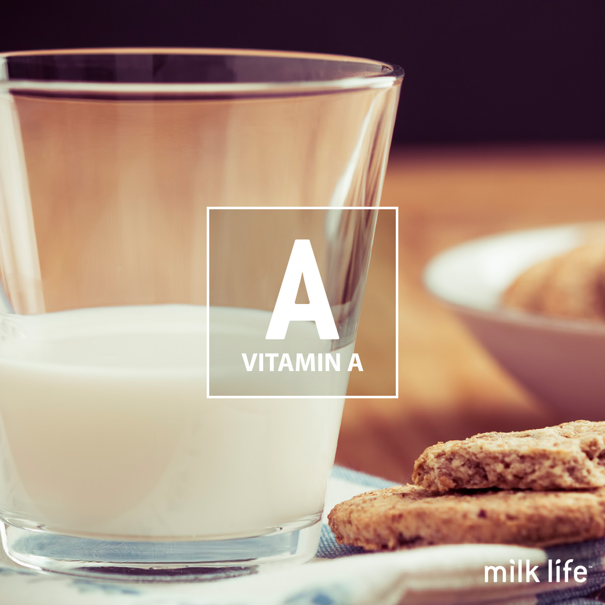Vitamin A is a nutrient in milk