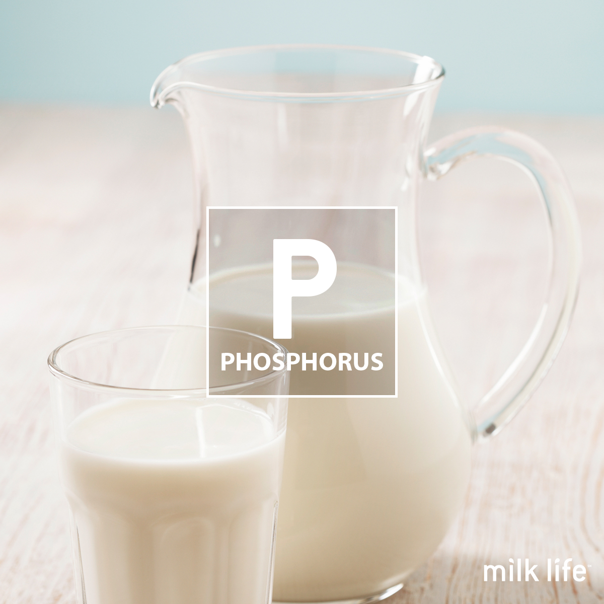 Phosphorus is a nutrient in milk