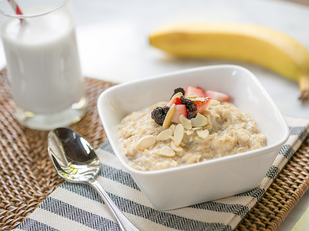 hearty protein packed oatmeal recipe milk life