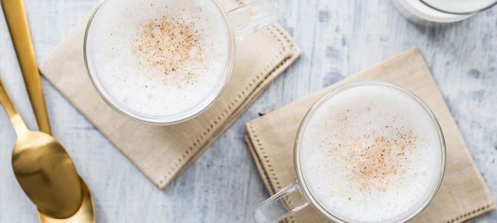Mix a holiday drink with milk.