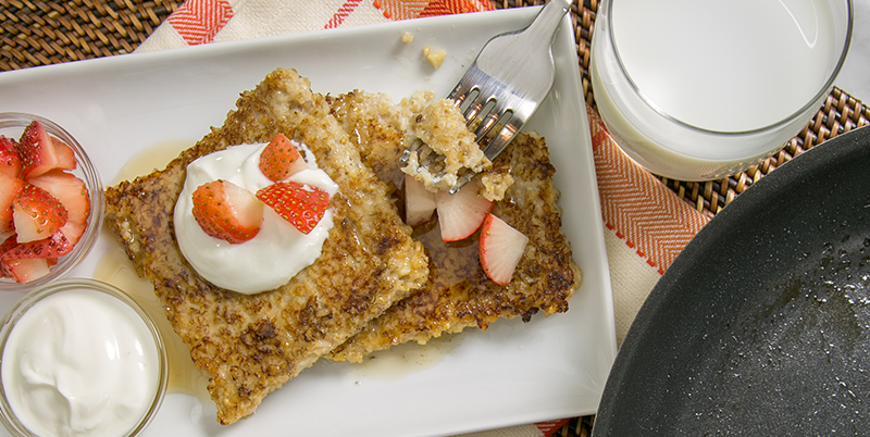 Steel cut oatmeal pancakes served with milk