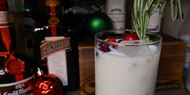 Christmas tree smash cocktail made with real milk